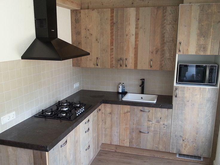 Steigerhouten keuken wood pinterest search - Redo keuken houten ...