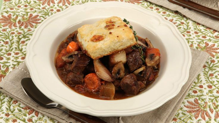 Beef Stew With Cheese Biscuits - Recipes - Best Recipes Ever - Cooking the shallots until caramelized creates the flavour base, and their subtle sweetness naturally balances out the sharp blue cheese. If you're not a fan of blue, try extra-old cheddar instead....