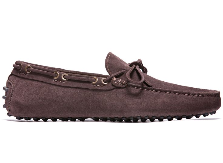 Brown Driving Moccasins in Suede Leather - El Còmod - Velasca - Men's Fashion