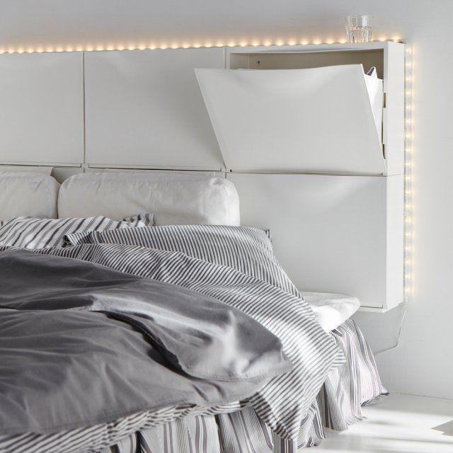 Gain de place 10 t tes de lit avec rangements chaussure ikea ikea et placard - Lit avec rangement ikea ...