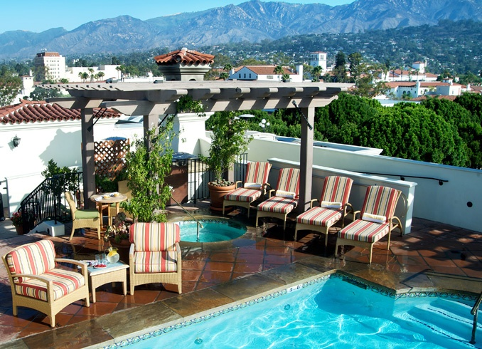 The Canary Hotel in Santa Barbara, this is the place to be.  They feature wine tastings on the Rooftop Perch, look for Laetitia Wines at their restaurant!