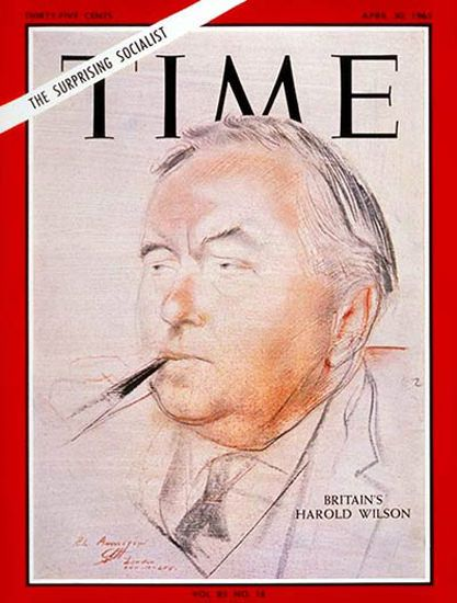 "1965-04 Harold Wilson Copyright Time Magazine - www.MadMenArt.com | Time Magazine Covers feature a chronological timeline of cover personalities and celebs – a unique kind of ""Who's Who."" #TimeMagazine #Vintage #Time #Magazines #Covers #MagazineCovers# #Covers #Celebs #Celebrities #History"