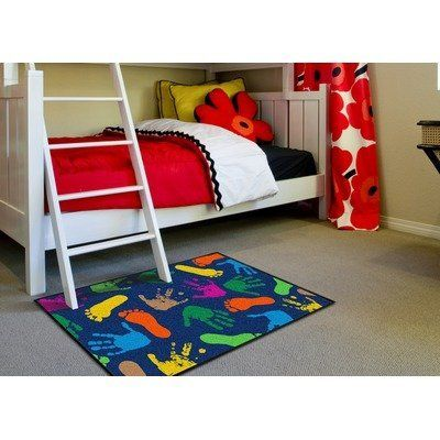 Hand Prints Kids Rug Size: 5' x 8' by Millenium Mats Kids. $135.99. 11713 Size: 5' x 8' Features: -Technique: Tufted.-Material: Nylon.-Origin: United States.-1'7'' x 2'6''.-2'10'' x 3'9''.-5' x 6'.-5' x 8'. Construction: -Construction: Machine made. Dimensions: -Pile height: 0.25''. Collection: -Collection: Hand Prints. Warranty: -Warranty length: 1 year.