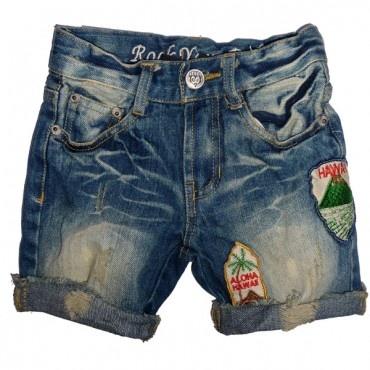 RYB Vintage Hawaiian Denim Shorts  $44