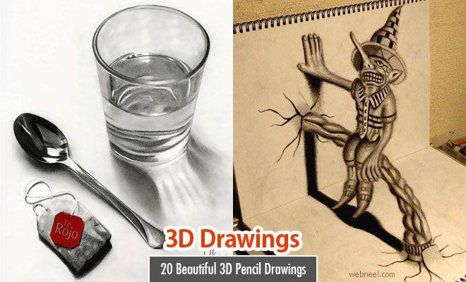 20 Beautiful 3D Pencil Drawings and 3D Art works - Part 2. Read full article: http://webneel.com/3d-drawings-pencil-art | more http://webneel.com/drawings | Follow us www.pinterest.com/webneel