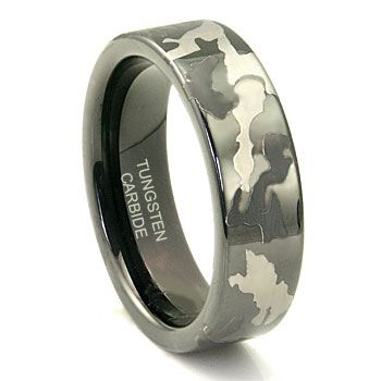 Black Tungsten Carbide 7mm MILITARY CAMOUFLAGE Wedding Ring My Brother Would Love This Mens Camo