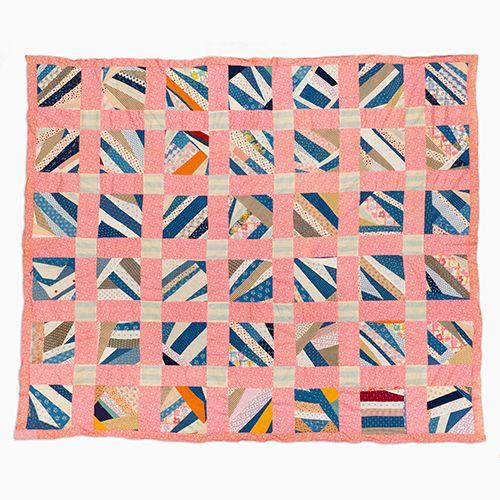 String Quilt Top – String Squares | Mingei