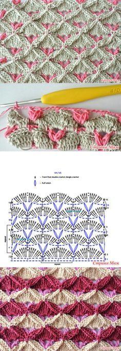 Punto fantasía a dos colores crochet