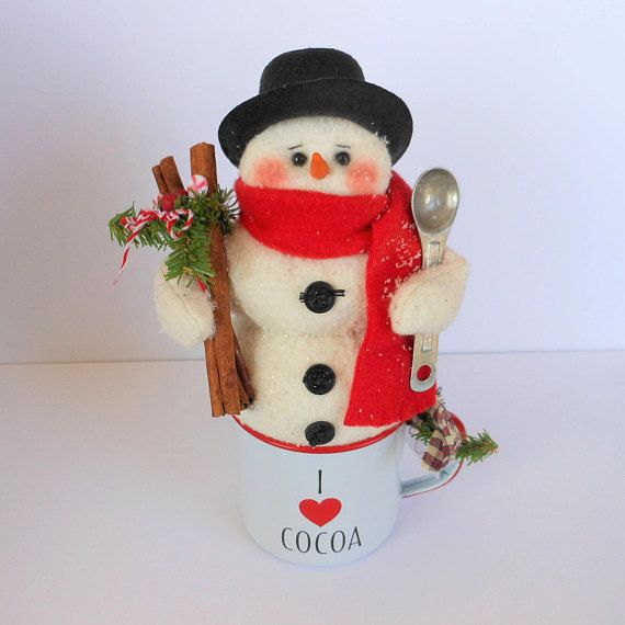 Snowman Snowman Doll Snowman Decor Hot Cocoa Mug Christmas