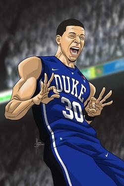 Seth Curry Cartoon (Duke Basketball)