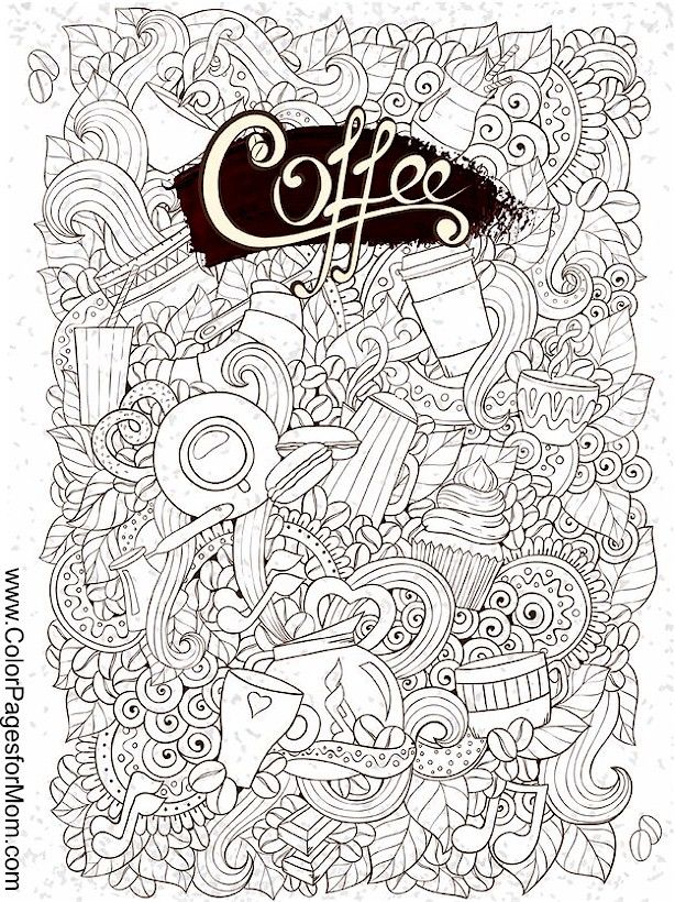 coffee coloring page 29