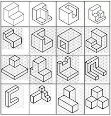 Resultado de imagen para isometric drawing exercises for kids