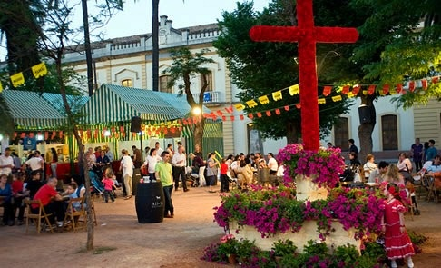 Cruces de Mayo or May Crosses Festival in Cordoba:  Best decorated patios are shown all over the city!