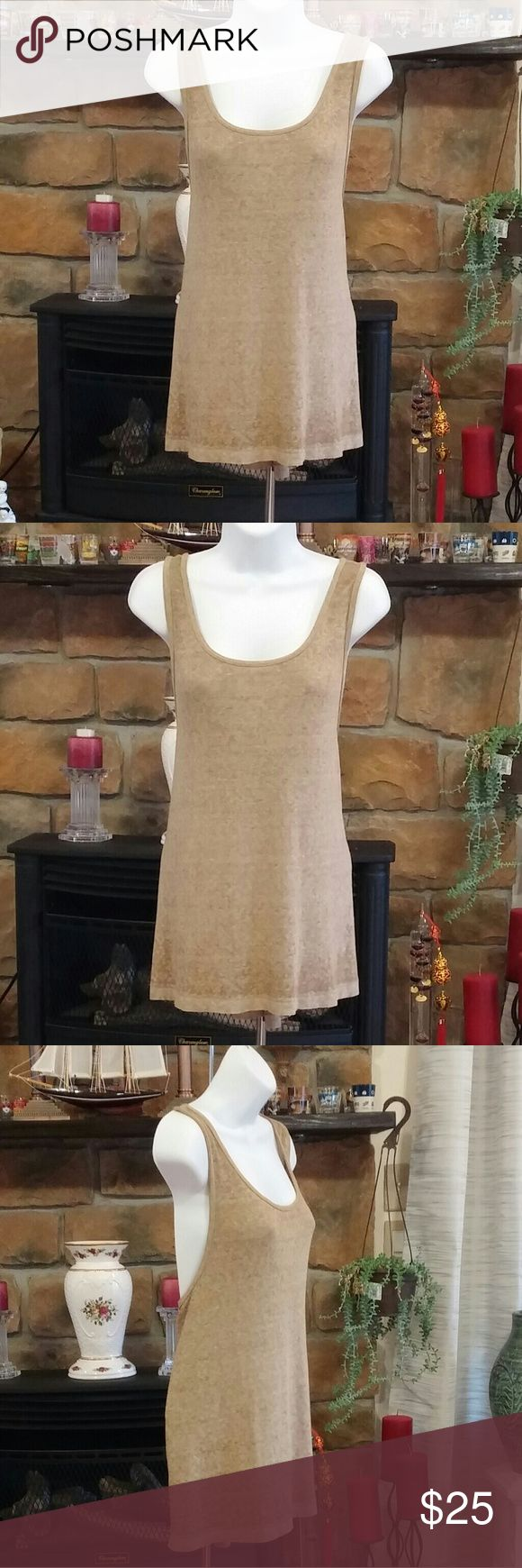FREE PEOPLE LOOSE TANK TOP; SIZE M Army color loose tank top. NWT. NR05240960--3643 Free People Tops