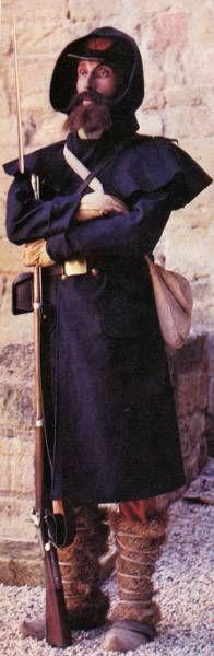 La campagne de crimée - un légionnaire français (photo prise en hiver a en juger par l'équipement)