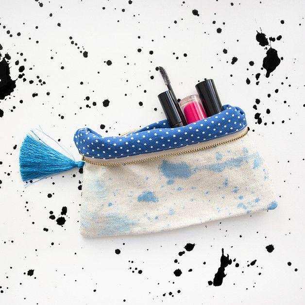 UMi - saszetka, kosmetyczka - LEN akwarela - UMiNation - Małe kosmetyczki