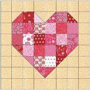 Scrappy Heart Quilt Block Pattern - via @Craftsy