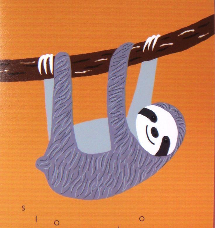 Sloth Illustration Print Sloth Art Print Inpirational ...