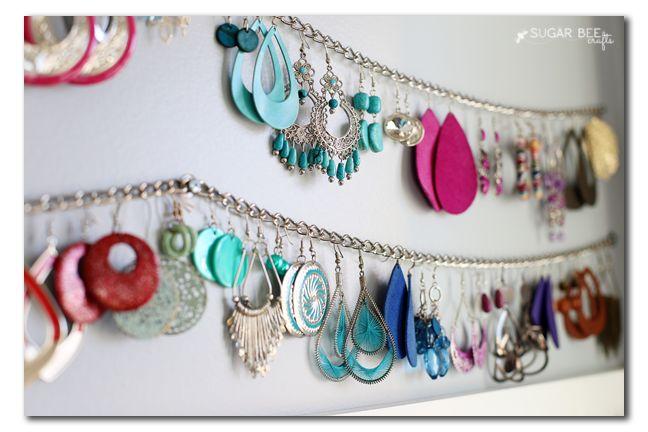 Simple Jewelry Organization - Sugar Bee Crafts