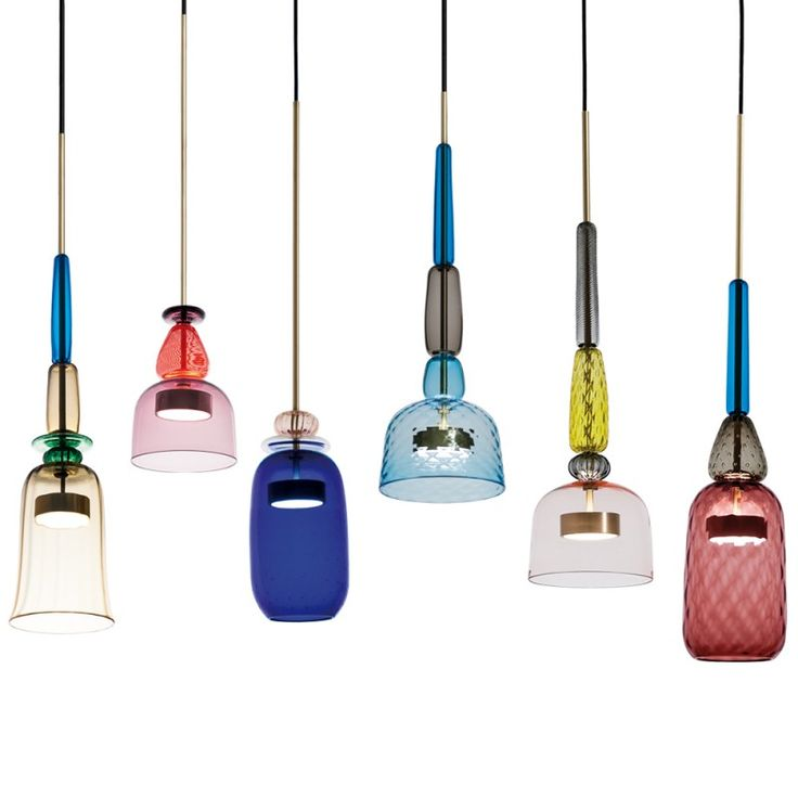 Shop SUITE NY for the Flauti pendant lights by Giopato and Coombes and more colorful Murano glass suspension lights from Italy