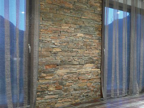 imitez un mur en pierre naturel gr ce au parement en s. Black Bedroom Furniture Sets. Home Design Ideas