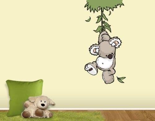 Cool S e Dekoration f r ein Babyzimmer Wandtattoo kleiner Koala in verschiedenen Gr en