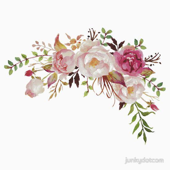 Romantic Watercolor Flower Bouquet