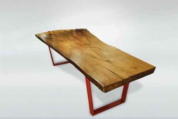 Modern Live Edge Dining Table by awoodstudio on Etsy