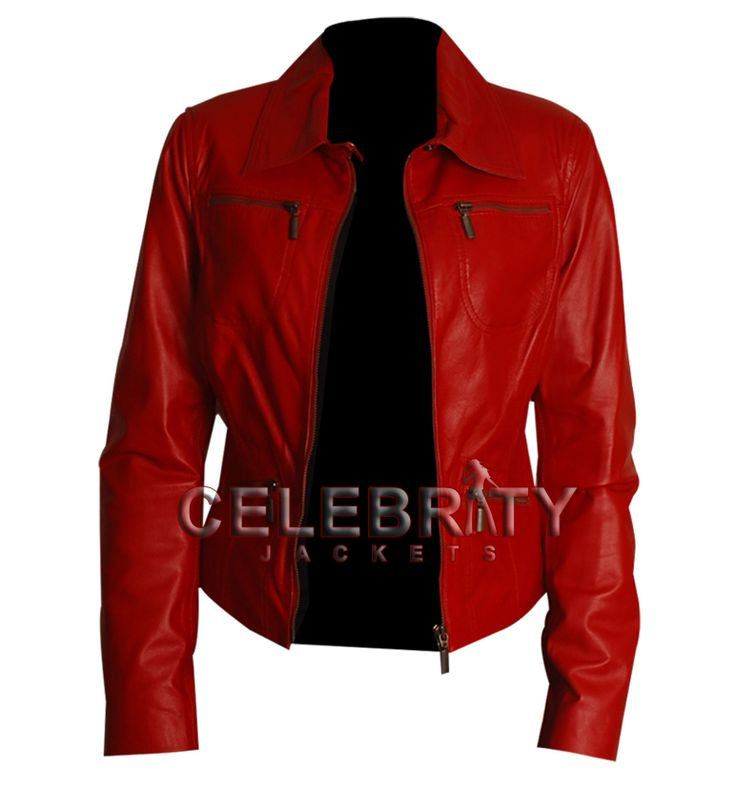 Women red leather jacket, women leather jacket for sale