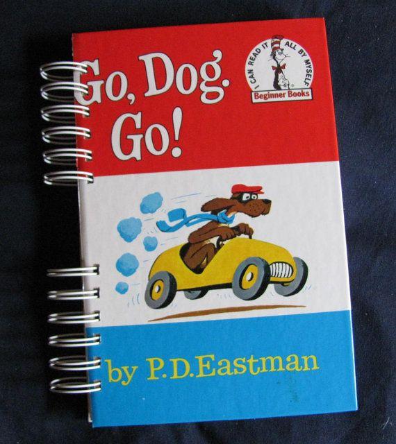 Recycled Kids Book JournalGo Dog Go Beginner Book by VintageIntent