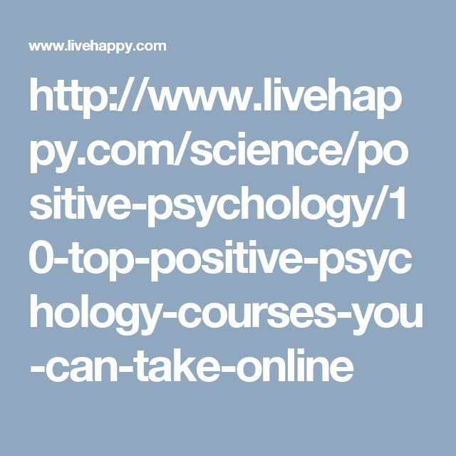86 best online courses images on pinterest online courses 12 top positive psychology courses you can take online fandeluxe Gallery