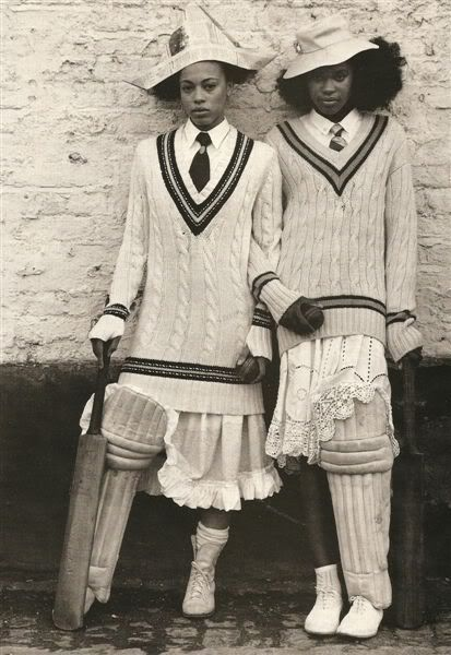 thejitteryknitter: Cable-topped cricket ensembles. Charming!