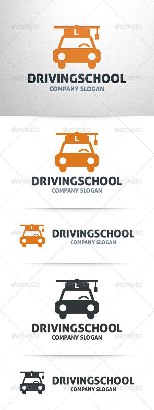 Driving School  - Logo Design Template Vector #logotype Download it here: http://graphicriver.net/item/driving-school-logo-template/7973001?s_rank=826?ref=nesto