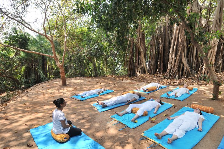 Yoganidra at under Big Banyan tree!  At SwaSwara, you can learn Yoga Nidra a deep relaxation state, in which the mind is between sleep and wakefulness, where the subconscious mind is alert and responding to instructions while the conscious mind takes a back seat.