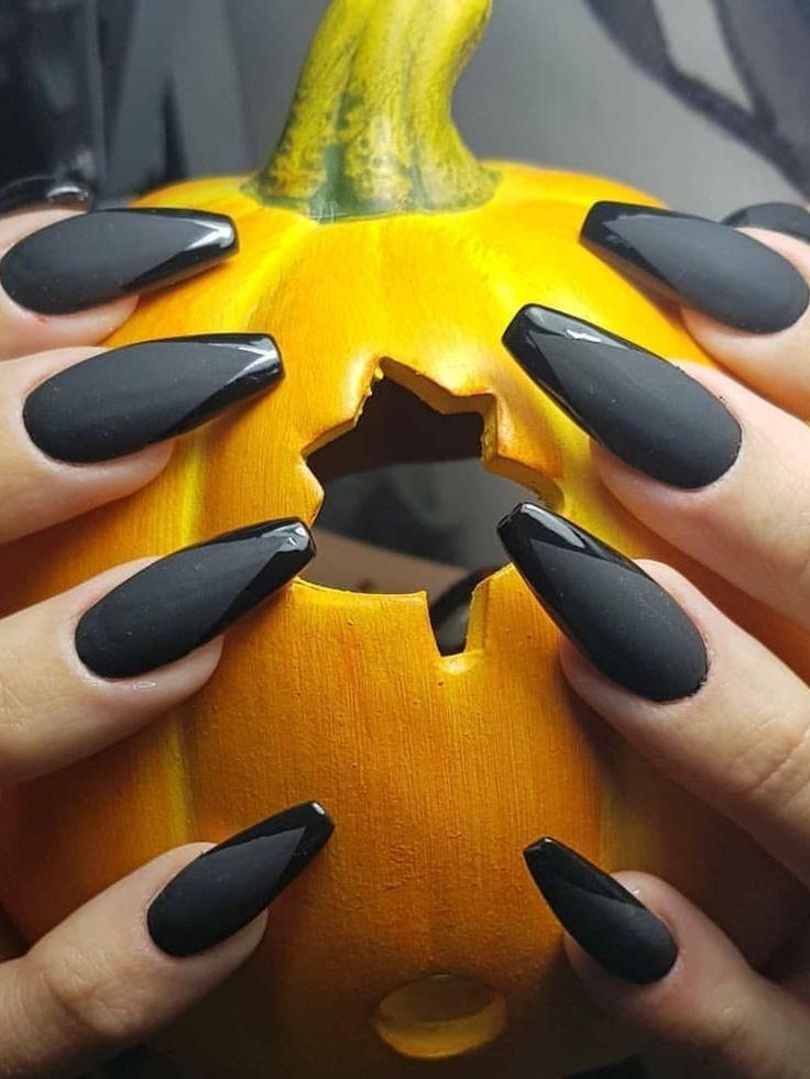 Halloween black coffin nails 2019 design! | Halloween ...