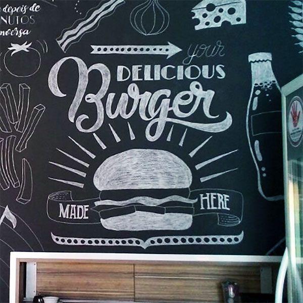 Blackboard Wallpaper Murals Food Wallpaper Murals Bistro: Best 25+ Chalkboard Restaurant Ideas On Pinterest
