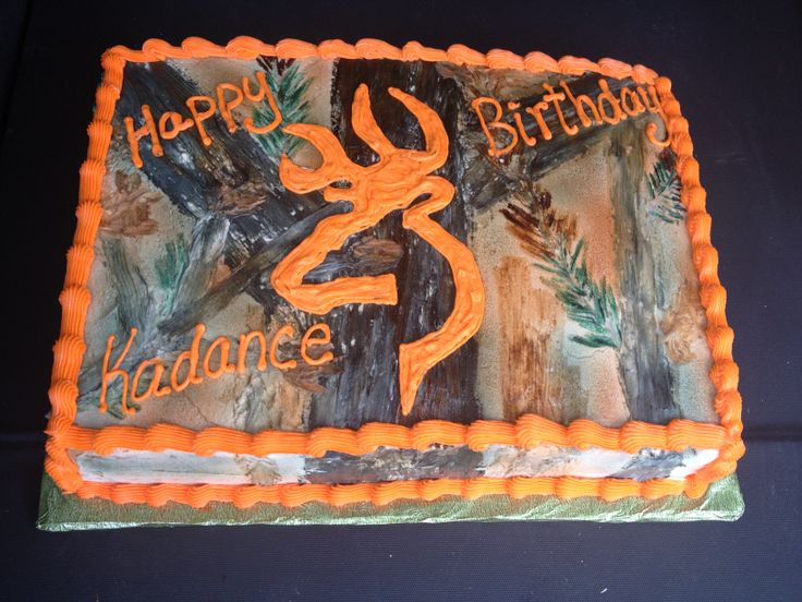 Camo with orange Browning Logo for a birthday :)