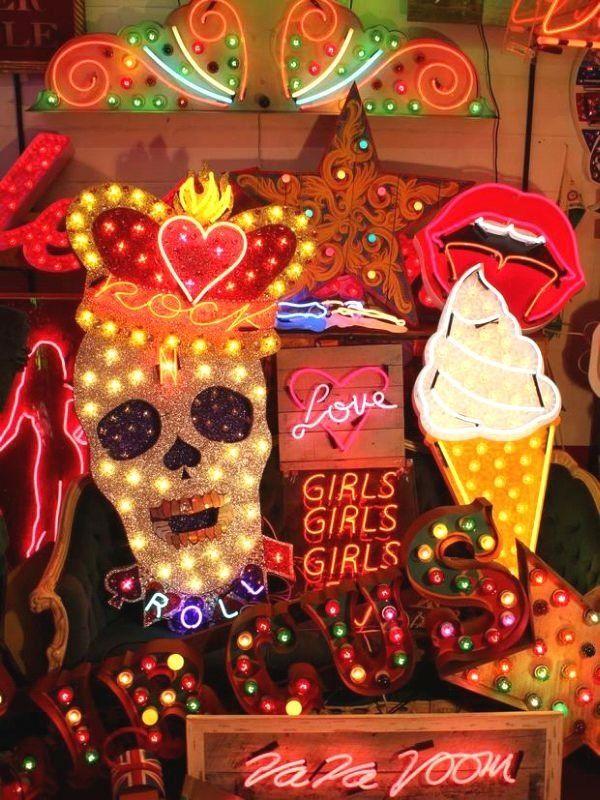 Neon Light I WOW! Mix of great neon lights #skull #icecream #neon