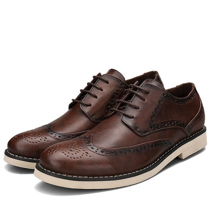 Men Casual Oxford Style Brogue Shoes #SHENBO #Oxfords #Casual