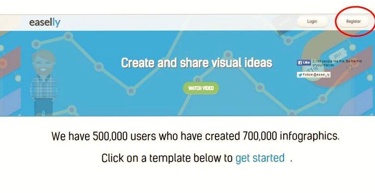 Сервис для создания инфографики с большим количеством готовых шаблонов Easel.ly