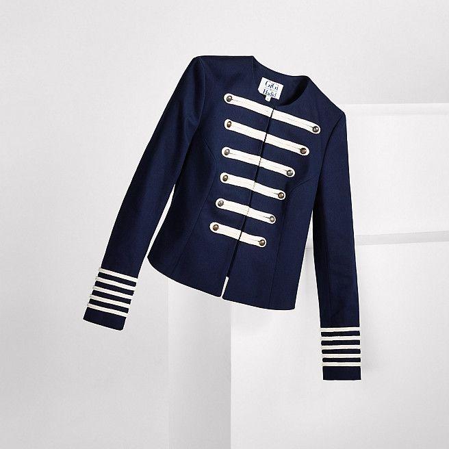 Tommy Hilfiger Cotton Band Jacket Gigi Hadid - navy blazer - Tommy Hilfiger Jackets - detail image 1