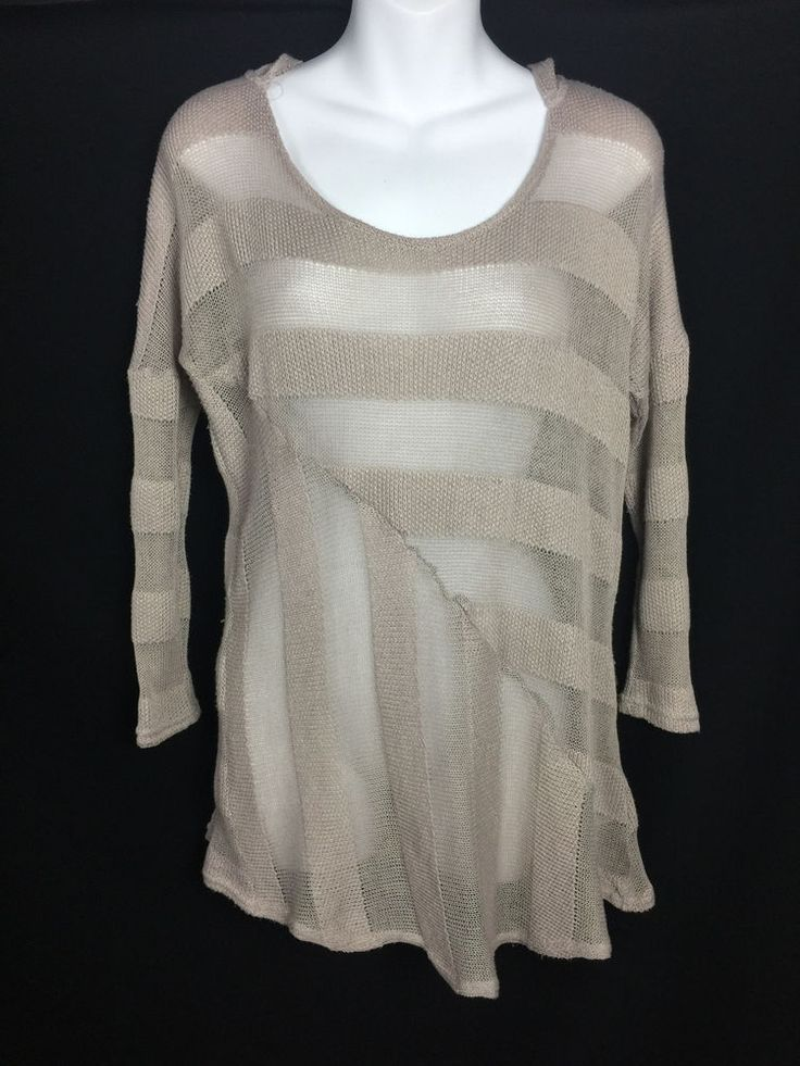 Anthropologie Sweater Saturday Sunday Monday Tuesday Hoodie long Womens Medium #Anthropologie #Hooded