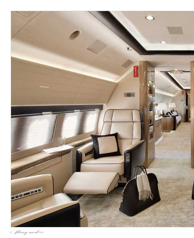 Luxe plane ride, whenever i take my dream vacations!