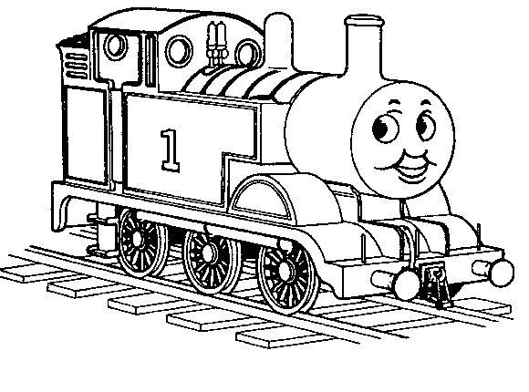 kleurplaat de stoomlocomotief trein gratis