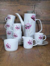 J G Meakin Studio vintage coffee set - rare pattern Serenity. Purchase at www.ruralmagpie.co.uk