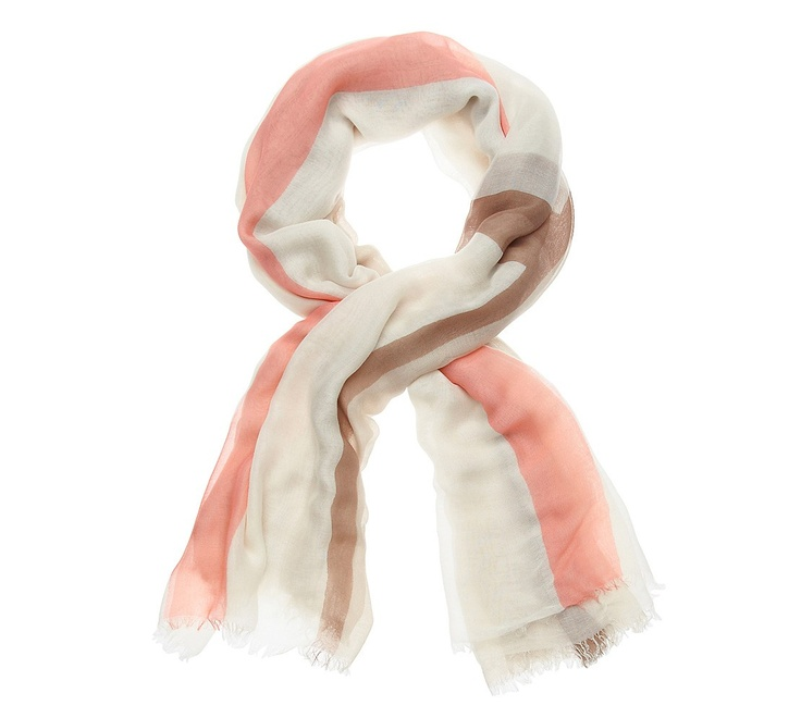 Summer Block Scarf in Poppy from Witchery