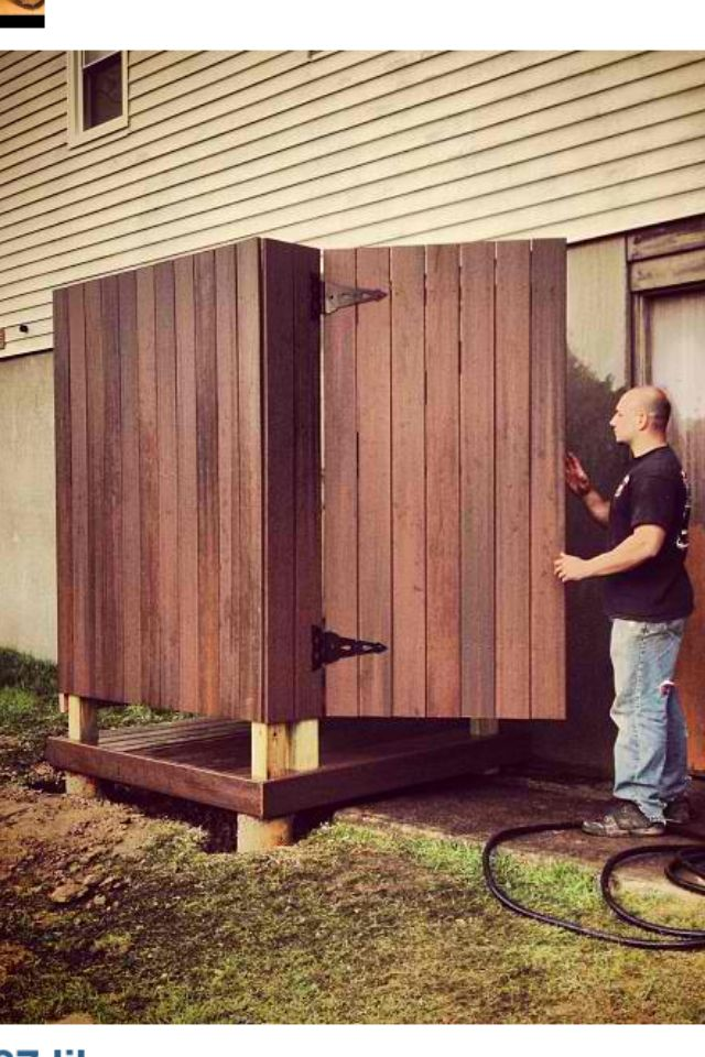 Outdoor Shower Made From Trex Decking Outside Showers Outdoor Shower Outdoor Bathrooms