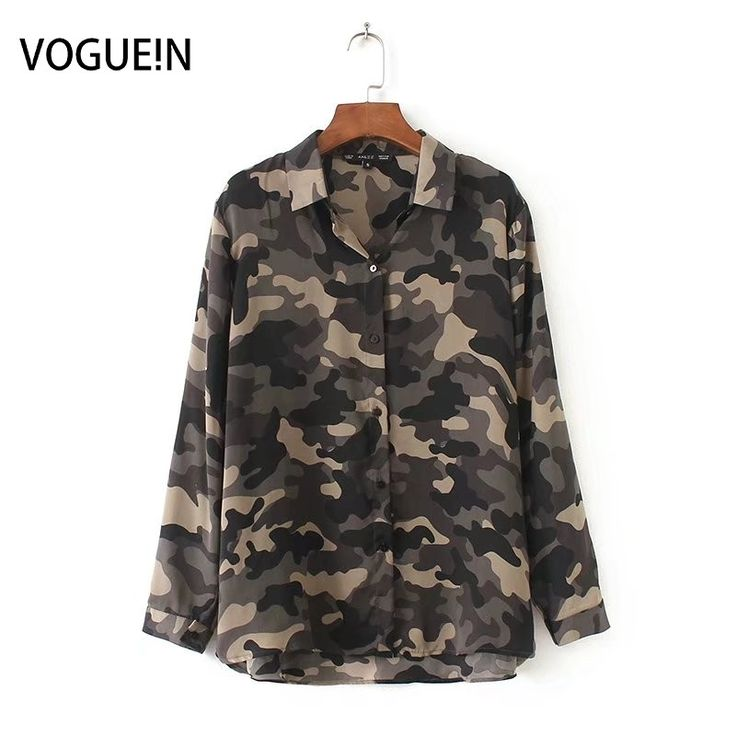 >> Click to Buy << VOGUE!N New Womens Ladies Fashion Camouflage Print Long Sleeve Shirt Blouse Tops #Affiliate