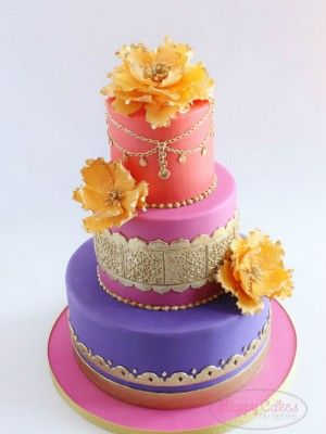 Moroccan themed baby shower cake indian pattern for Arabian cake decoration