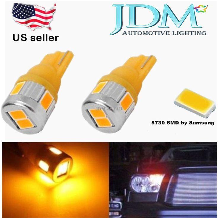 Jdm Astar Amber T10 Wedge 194 168 12v Bright 5730smd Car Interior Map Light Bulb Jdmastar5730s Automotive Led Lights Interior Led Lights Led Replacement Bulbs